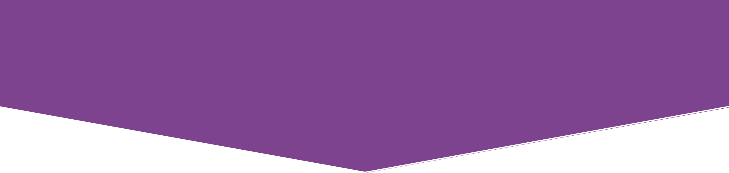 purple footer shape